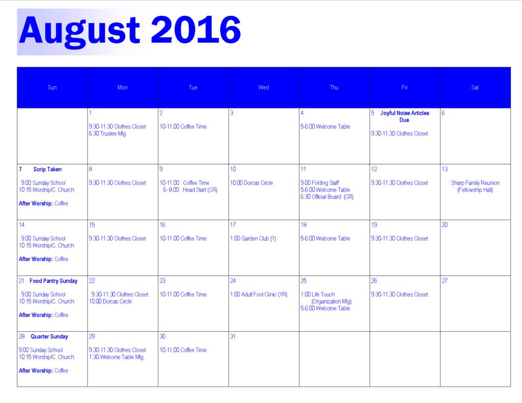 Aug 2016